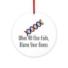 When All Else Fails, Blame Your Gen Round Ornament