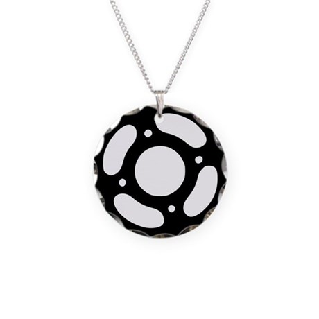 bevel Necklace Circle Charm