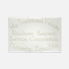 My Traditional Values Ivory Rectangle Magnet