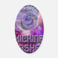 Kicking Ashe greeting card Oval Car Magnet