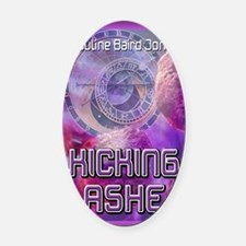 Kicking Ashe mouse pad Oval Car Magnet