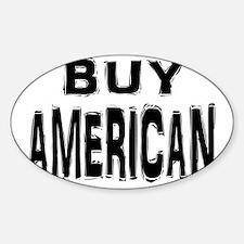 AMERICAN Sticker (Oval)