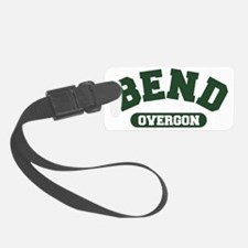 Bend Over - green Luggage Tag