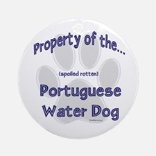 Water Dog Property Ornament (Round)