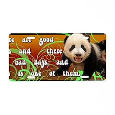 Bad Days Panda Aluminum License Plate