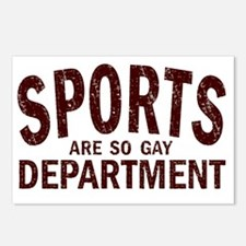 Sports are so Gay Umber Postcards (Package of 8)