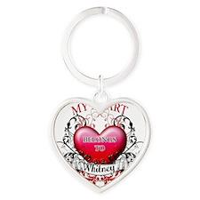 My Heart Belongs to Whitney copy Heart Keychain