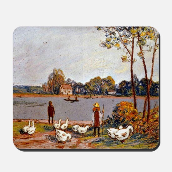 Sisley: By The River Loing, Alfred Sisle Mousepad