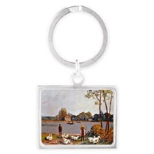 Sisley: By The River Loing, Alf Landscape Keychain
