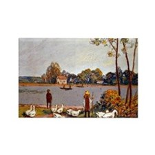 Sisley: By The River Loing, Alfre Rectangle Magnet