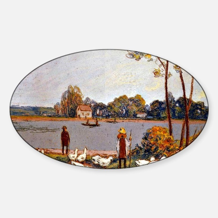 Sisley: By The River Loing, Alfred  Decal