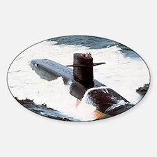 jmonroe large framed print Sticker (Oval)