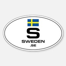 UN-Style Oval Automobile Sticker - Sweden