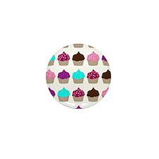 CupcakeLoveMultiRectangle1 Mini Button