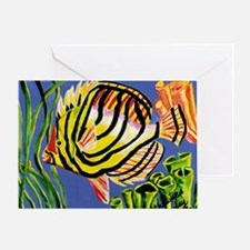 Tile tropical fish Greeting Card