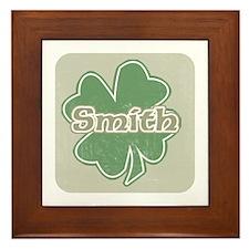 """Shamrock - Smith"" Framed Tile"