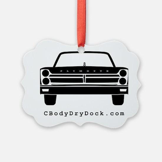 65 Front Black Ornament