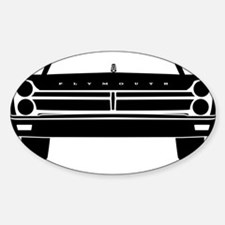 65 Front Black Decal