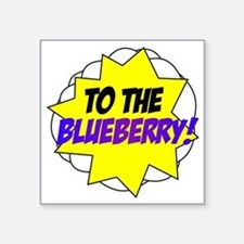 "blueberry Square Sticker 3"" x 3"""
