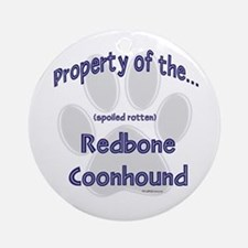 Coonhound Property Ornament (Round)