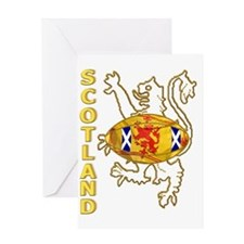 Scottish Saltire and Lion Rugby Greeting Card