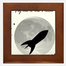 Fly me to the moon 2 Framed Tile