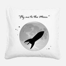 Fly me to the moon 2 Square Canvas Pillow