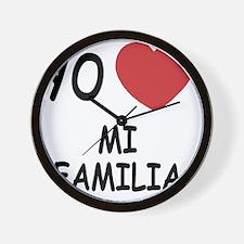 MI_FAMILIA Wall Clock
