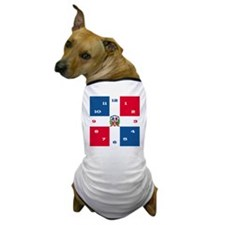 dominicanrepuplicCLOCKmed Dog T-Shirt