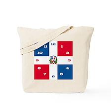 dominicanrepuplicCLOCKmed Tote Bag