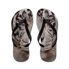 (4) White Tiger 4 Flip Flops