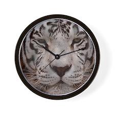 (4) White Tiger 4 Wall Clock