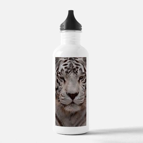 (6) White Tiger 4 Water Bottle