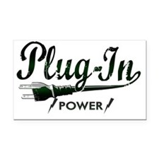 Plug In Power copy Rectangle Car Magnet