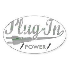 Plug In Power for dark Decal