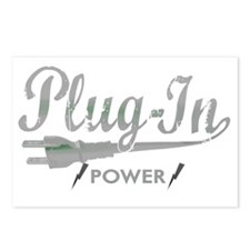 Plug In Power for dark Postcards (Package of 8)
