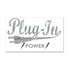 Plug In Power for dark Rectangle Car Magnet