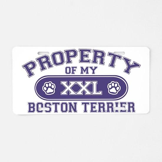 bostonterrierproperty Aluminum License Plate
