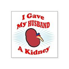 """kidneyfrontH2 Square Sticker 3"""" x 3"""""""