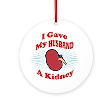 kidneyfrontH2 Round Ornament