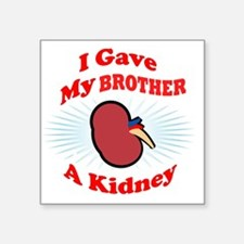 "kidneyfrontB2 Square Sticker 3"" x 3"""