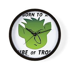 trolltribe1 Wall Clock