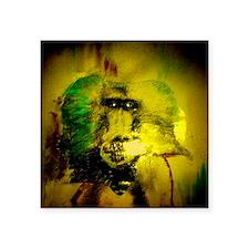 "baboon head Square Sticker 3"" x 3"""