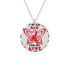 I Wear Red for my Aunt Necklace