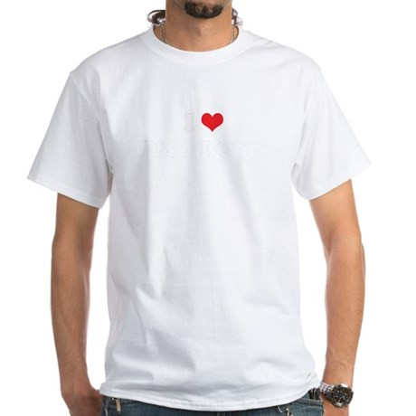 I Heart EMO BOYS White T-Shirt