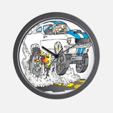 Creekrat_CARtoons_Shelby_Mustang_Tee co Wall Clock
