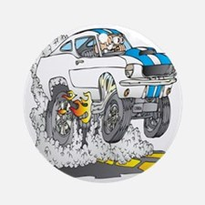 Creekrat_CARtoons_Shelby_Mustang_Te Round Ornament