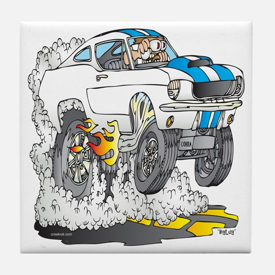 Creekrat_CARtoons_Shelby_Mustang_Tee  Tile Coaster