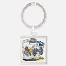Creekrat_CARtoons_Shelby_Mustang_T Square Keychain