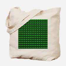 Green Shamrocks St. Patricks Day Black Tote Bag